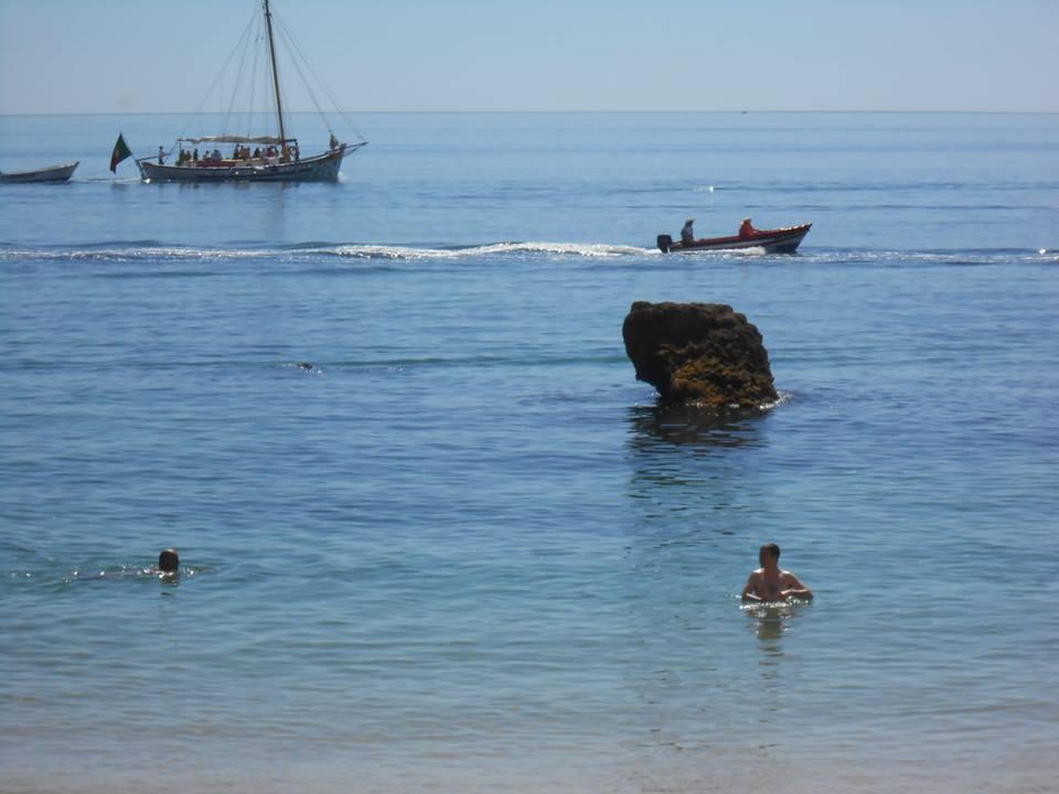 Dándome un bañito en el Atlántico